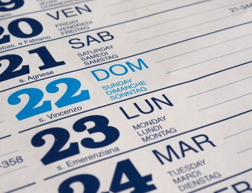 Calendario de días inhábiles 2020 a efectos de plazos administrativos.